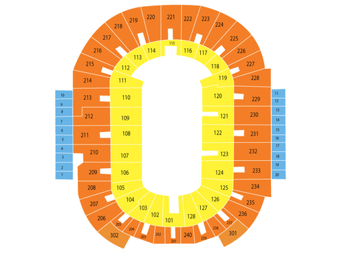 Advance Auto Parts Monster Jam Venue Map