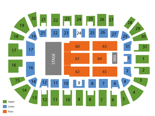 Pitbull Venue Map