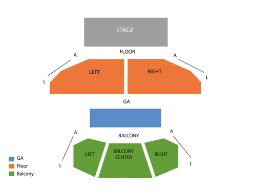 House of Blues - Houston Seating Chart