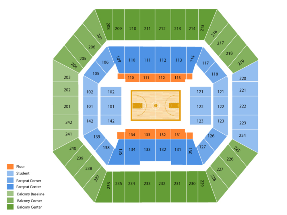 TCU Horned Frogs at Iowa State Cyclones Basketball Venue Map