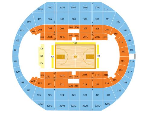 Von braun center arena seating chart events in huntsville al