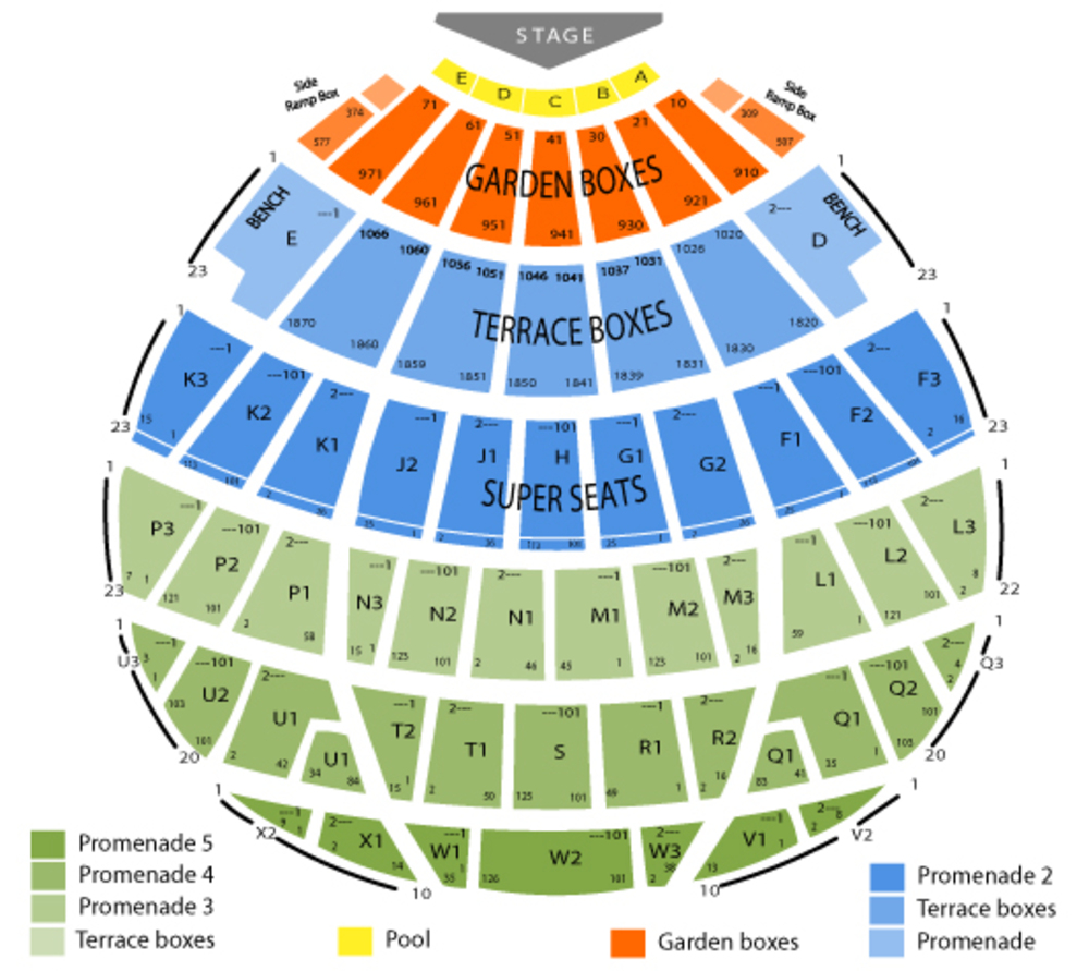 Hollywood Bowl seating map and tickets