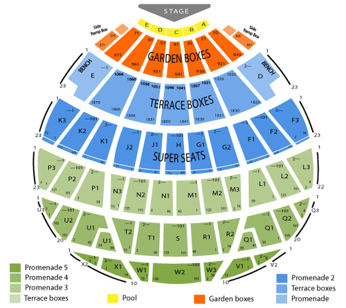 Keith Urban Venue Map