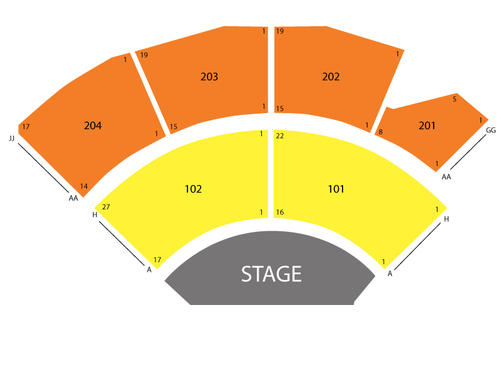Jabbawockeez Theater - MGM Grand Seating Chart