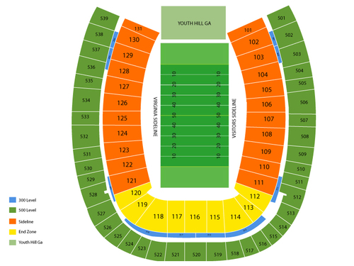 Scott Stadium Seating Chart