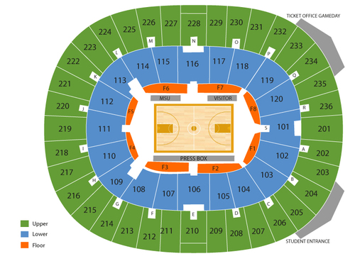 Humphrey Coliseum Seating Chart