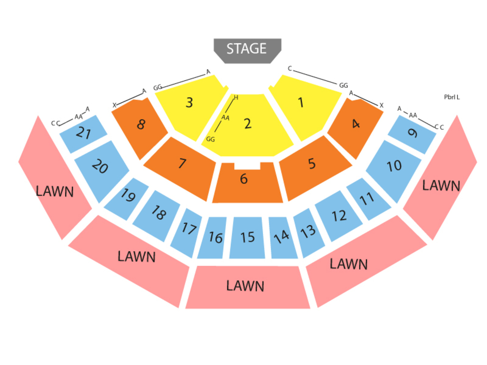 Santana and Earth, Wind & Fire (Rescheduled from 07/12/2020) Venue Map