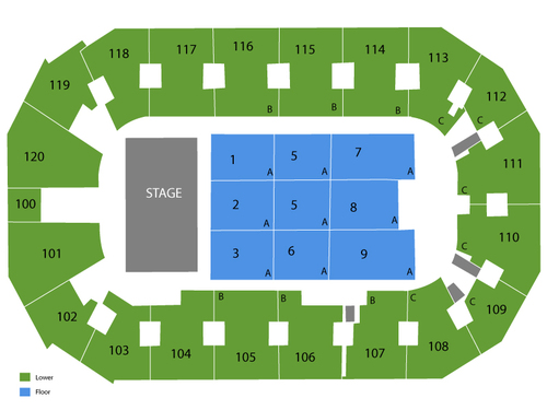 Independence Events Center Seating Chart