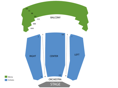 Irvine Barclay Theatre Seating Chart
