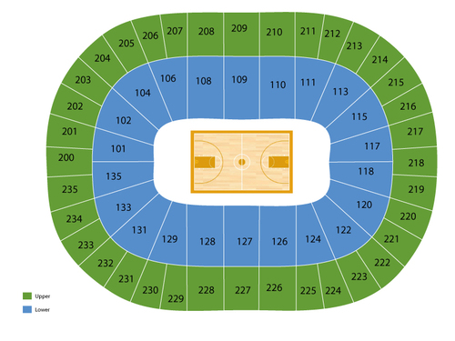 Northwestern Wildcats at Michigan State Spartans Basketball Venue Map