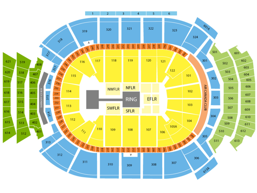 WWE - 4 day pass Venue Map