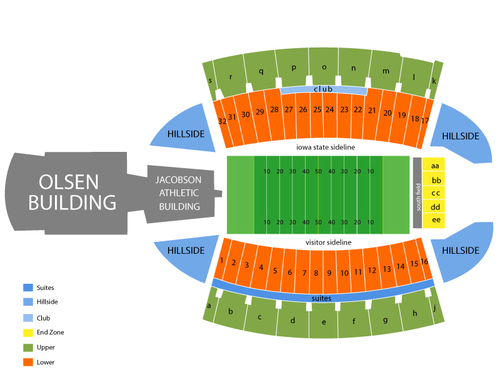 Iowa State Cyclones Football Season Tickets Venue Map