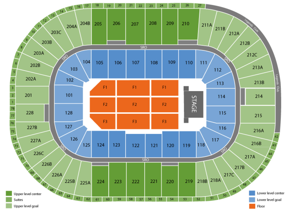 Joe Louis Arena Seat Map Joe Louis Arena seating chart and tickets Joe Louis Arena Seat Map
