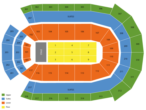 Budweiser Gardens (Formerly John Labatt Centre) Seating Chart