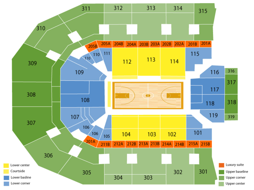 John Paul Jones Arena seating map and tickets