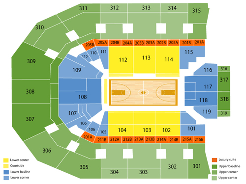 John Paul Jones Arena Seating Chart