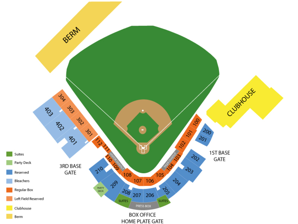 Spring Training: Toronto Blue Jays at Detroit Tigers (Split Squad) Venue Map