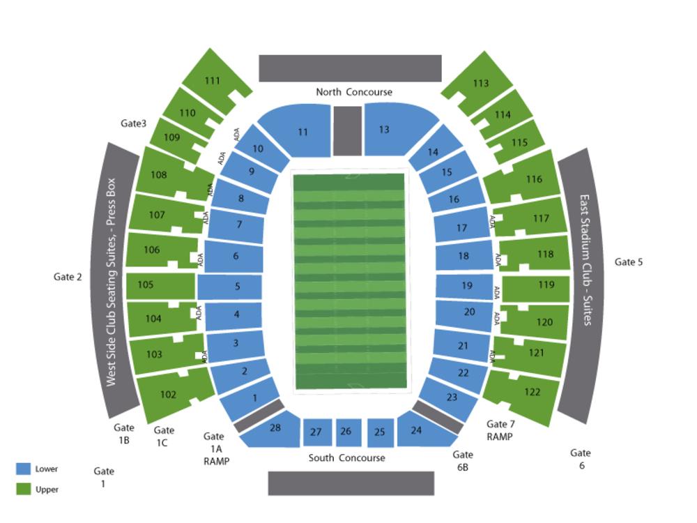 Texas Longhorns at Texas Tech Red Raiders Football Venue Map