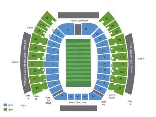 West Virginia Mountaineers at Texas Tech Red Raiders Football Venue Map