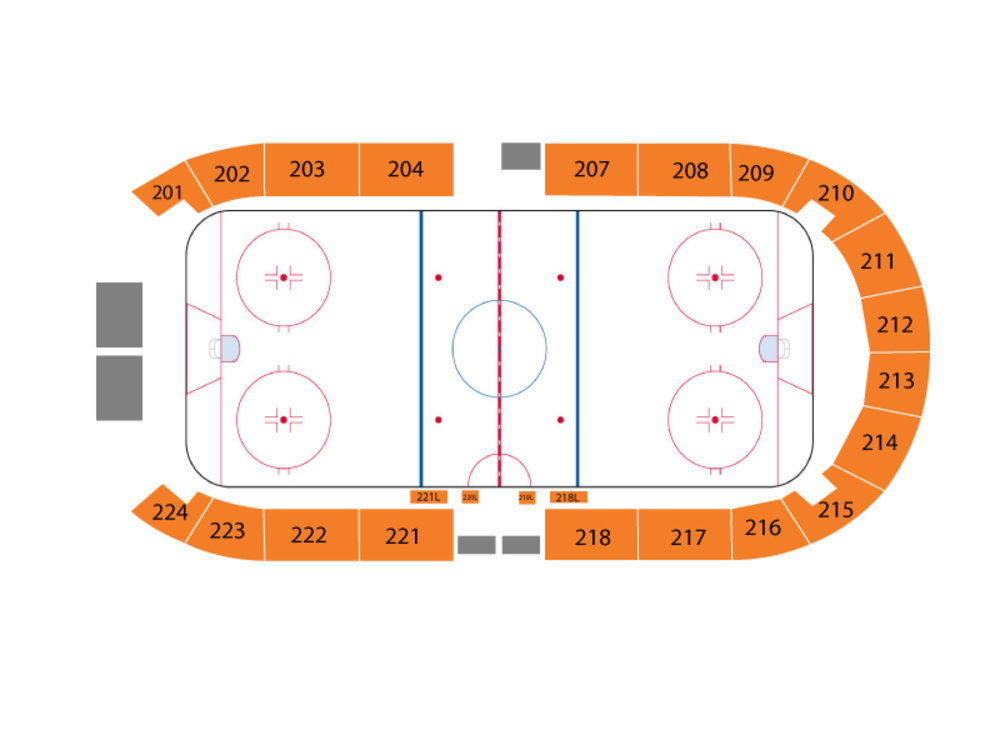 Peoria Rivermen at Huntsville Havoc Venue Map