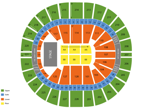 Bruno Mars with Ellie Goulding Venue Map
