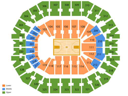 KFC Yum! Center Seating Chart