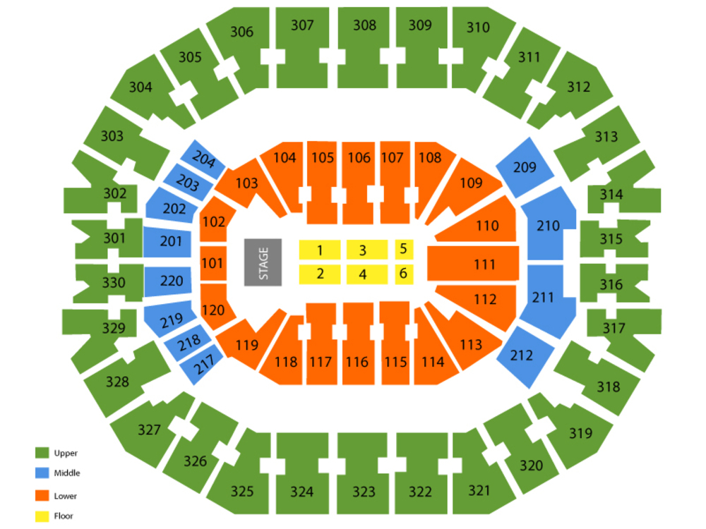Janet Jackson Venue Map