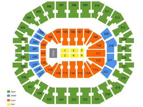 George Strait with Vince Gill Venue Map