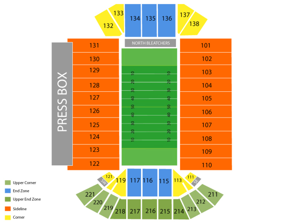 Iowa Hawkeyes Football Season Tickets Venue Map