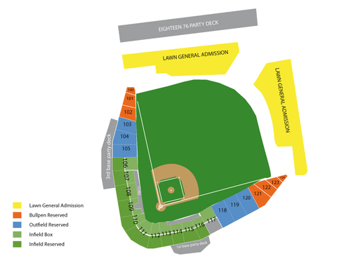 Spring Training: Cleveland Indians at Chicago Cubs Venue Map