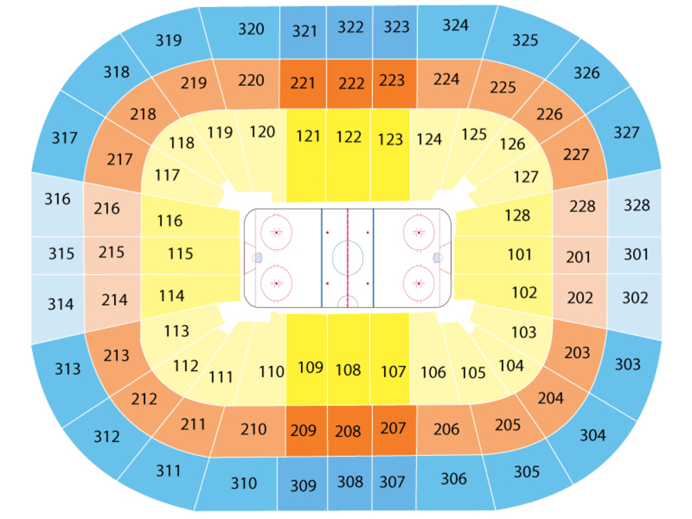 Michigan Wolverines at Wisconsin Badgers Hockey Venue Map