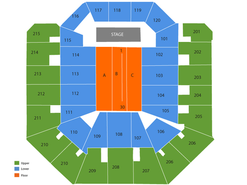 Martin Lawrence (Rescheduled from 04/04/2020) Venue Map