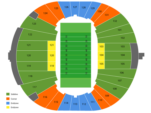 Liberty Bowl Memorial Stadium Seating Chart