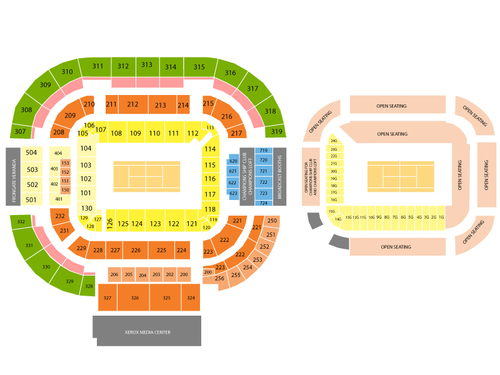 Lindner Family Tennis Center (ATP Stadium) Seating Chart
