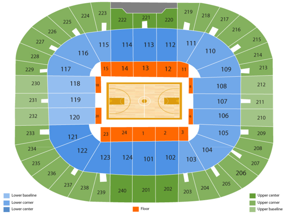 Littlejohn Coliseum seating map and tickets
