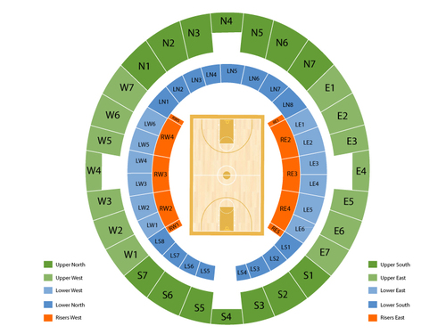 Lloyd Noble Center Seating Chart