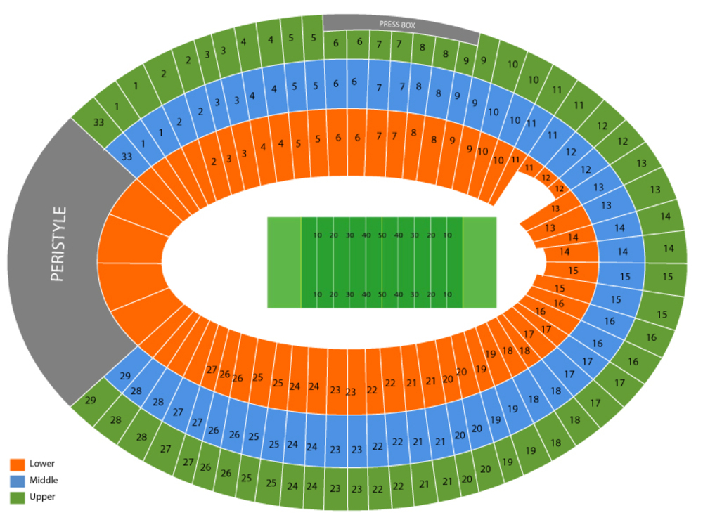 Oregon Ducks at USC Trojans Football Venue Map
