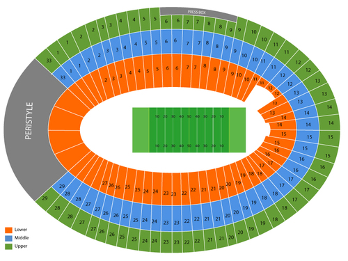 Boston College Eagles at USC Trojans Football Venue Map