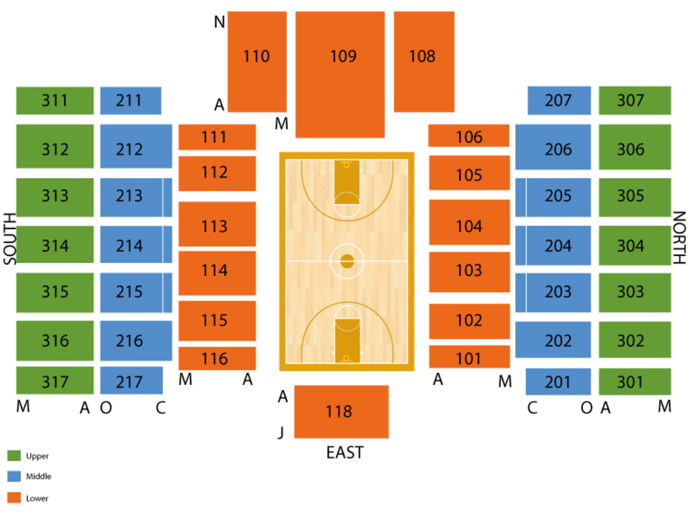 Nebraska Cornhuskers at Rutgers Scarlet Knights Basketball Venue Map