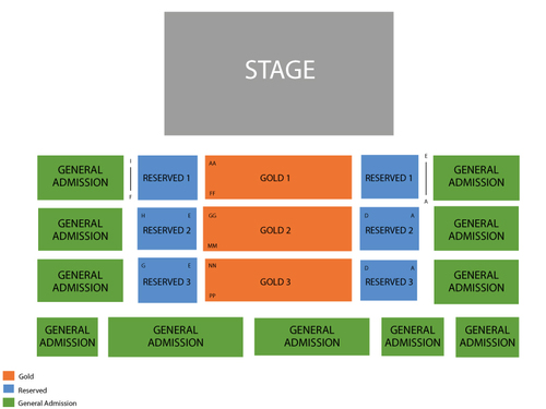 Sara Evans Venue Map