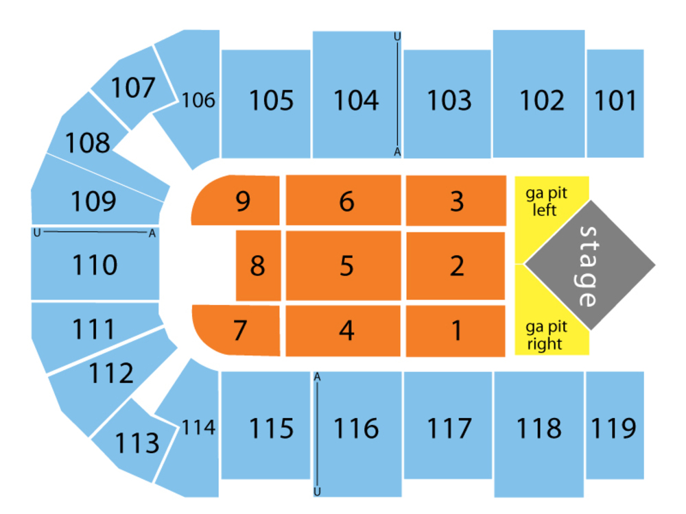 Cross Insurance Center seating map and tickets