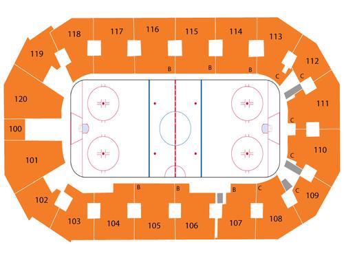 Silverstein Eye Centers Arena Seating Chart