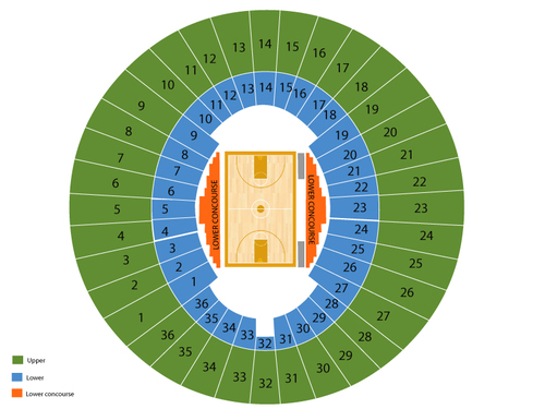 Lawlor Events Center Seating Chart