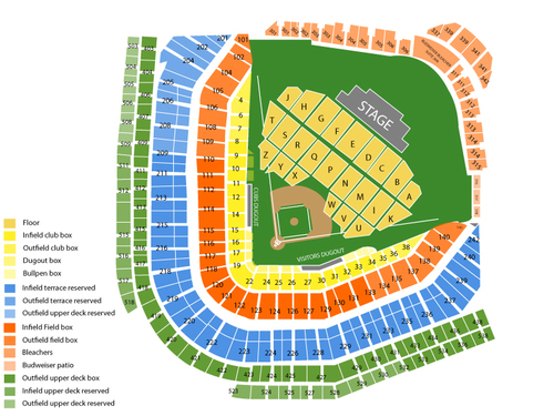 Motley Crue and Def Leppard (Rescheduled from 08/28/20 and 8/29/21) Venue Map