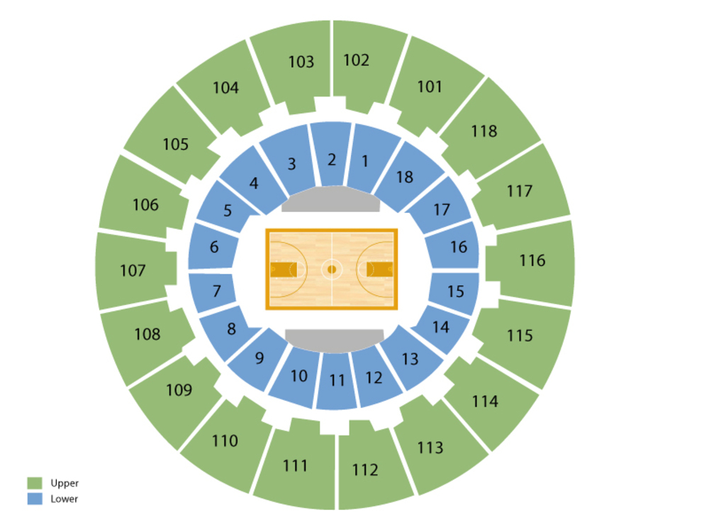 Michigan State Spartans at Purdue Boilermakers Basketball Venue Map