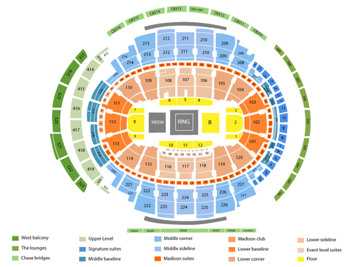Madison square garden seating chart events in new york ny for Seating chart for madison square garden