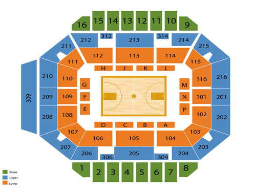 Diddle Arena Seating Chart