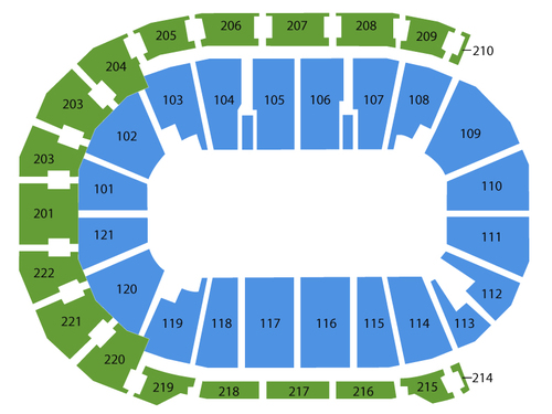 Ford center evansville seating chart events in evansville in