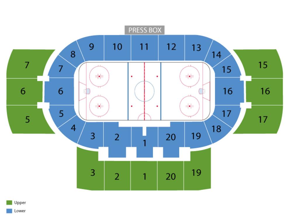 Minnesota Duluth Bulldogs at Denver Pioneers Hockey Venue Map
