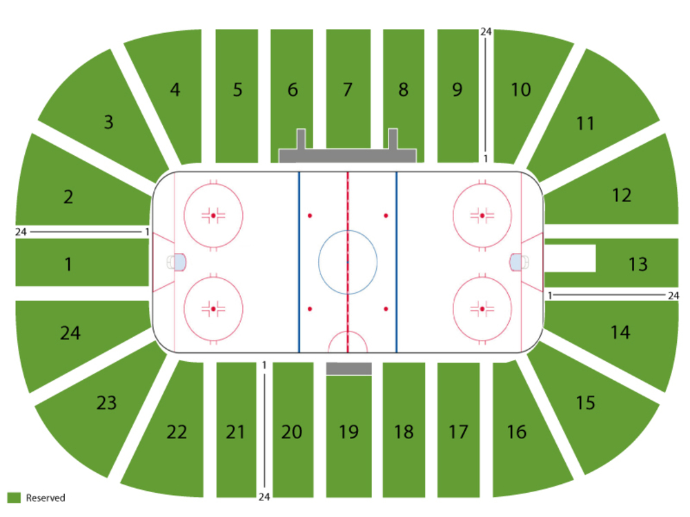 Minnesota Golden Gophers at Michigan State Spartans Hockey Venue Map
